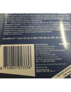 Aceite Valvoline Durablend GL5 LS 75W90