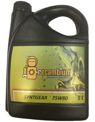 Aceite Recambium Sintgear GL5 75W80