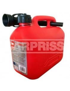 Bidón Combustible Plástico Homologado, 5 Litros