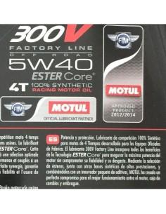 Aceite Motul 300V 4T Factory Line Road Racing 5W40