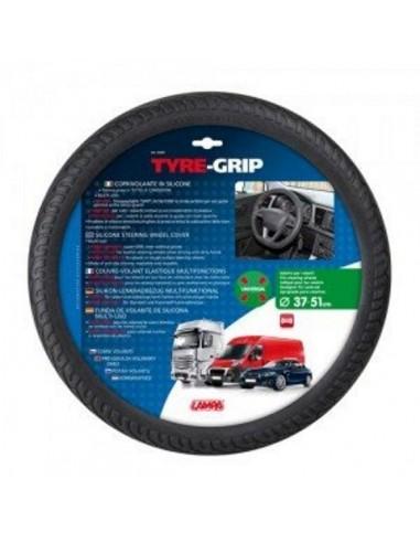 Funda Volante Silicona Tyre-Grupo Negra 37-51 cm