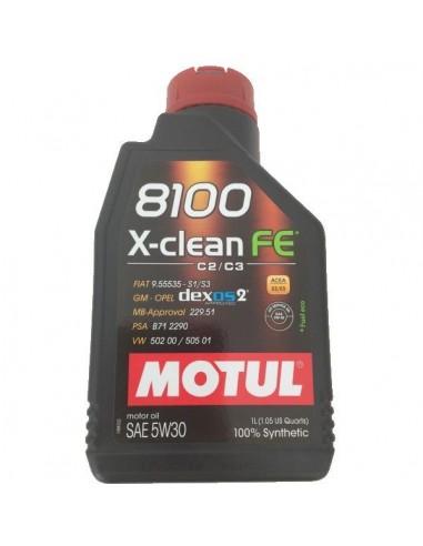 Aceite Motul 8100 X-Clean FE 5w30