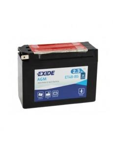 Batería Moto Exide AGM ET4B-BS 12V - 2,3 Ah