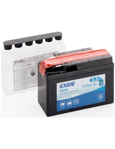 Batería Moto Exide AGM ETR4A-BS 12V-2.3 Ah