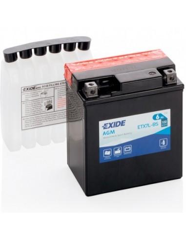 Batería Moto Exide AGM ETX7L-BS 12V - 6 Ah