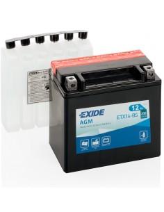 Batería Moto Exide AGM ETX14-BS 12V - 12 Ah