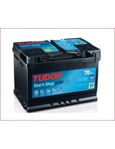 Batería Coche MICROHIBRIDOS TUDOR TK700 AGM 70 Ah