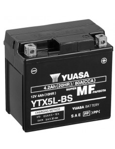 Batería Moto Yuasa YTX5L-BS 12V- 4Ah