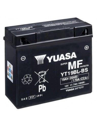 Batería Moto Yuasa YT19BL-BS 12V- 17,7Ah