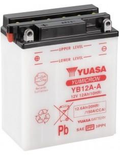 Batería Moto Yuasa YB12A-A 12V- 12Ah