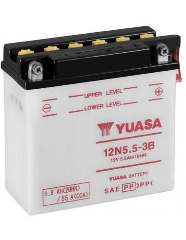 Batería Moto Yuasa 12N5.5-3B - 5,5Ah