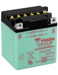 Batería Moto Yuasa 12N5.5A-3B- 12V- 5,5Ah