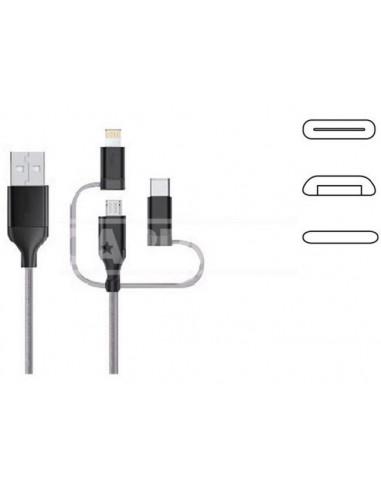 Cable Carga Micro USB y Tipo C1M