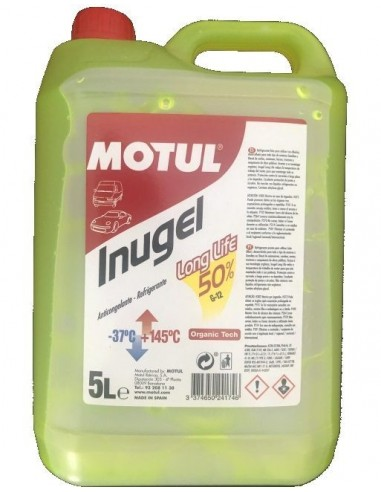 Anticongelante Motul Inugel Long Life 50%, Amarillo