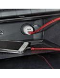 Cargador-Mechero Doble Conexión USB + Cable conexión Tipo Micro 1 m