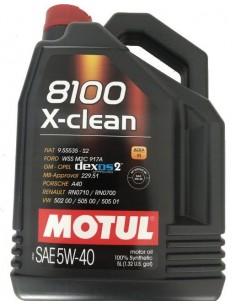 Aceite Motul 8100 X-Clean C3 5W40