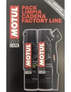Pack Limpia Cadenas Factory Line C1 y C4, Motul