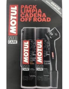 Pack Limpia Cadenas Off Road C1 y C3, Motul