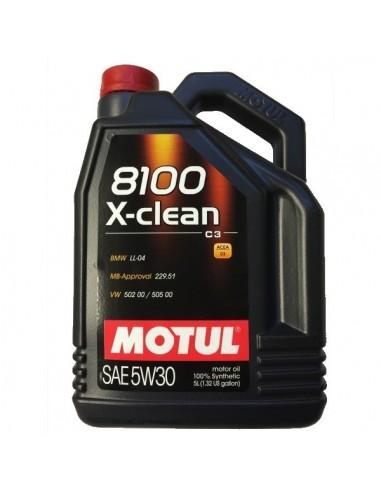 Aceite Motul 8100 X-Clean C3 5W30