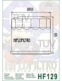 Filtro de Aceite para Moto -hf129