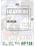 Filtro Aceite Cromado Moto - HF138C