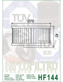 Filtro de Aceite para Moto - HF144