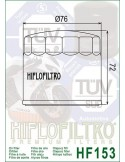 Filtro de Aceite para Moto - HF153