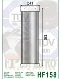 Filtro de Aceite de Moto - HF158