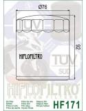 Filtro de Aceite para Moto - HF171