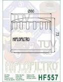 Filtro de Aceite para Moto - HF557