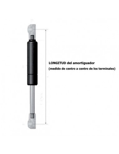 Amortiguador de Gas para Maletero o Capó Ref. 3041.20-T