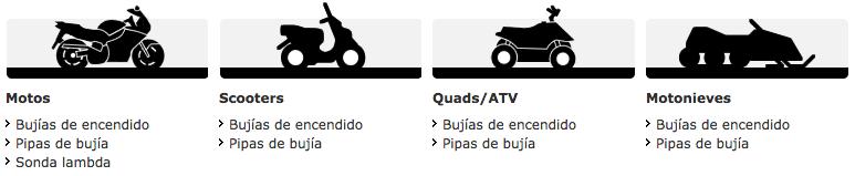 Bujías NGK de encendido para vehículos de gasolina