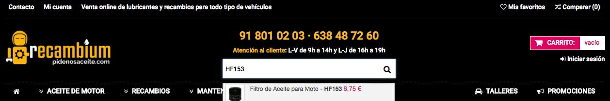 Filtro Hiflofiltro Moto
